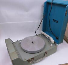 Vtg Decca Model DPS 9 Portable Turntable Record Player w/ Stylus