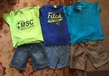 Boys Polo Shirt and Shorts Outfits Size 7 Summer Lot Of 3 (6 Pieces)