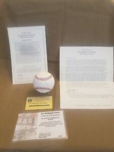 Johnny Bench Gold Glove Autographed Baseball 6 Inscription STAT with Certificate