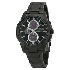 Seiko Mens SSC095 Alarm Chronograph Quartz Dual Time Stainless Steel Watch