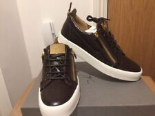 Giuseppe Zanotti Brown Ostrich peut Low Top Baskets Baskets Taille UK 6,7 .5, 8,9 .5