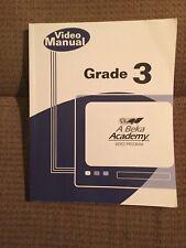 Abeka Grade 3 Video Manual 2013 **Christian Homeschool Curriculum Teacher Book**