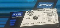 Dischi abrasivi Norton GOLD 150mm grane P80 120 240 320 400 velcro 15 fori 100pz
