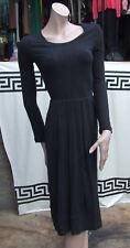 Weekend Max Mara Fabulous Designer Dark Grey Classic Long Sleeve Dress Sz S UK 8