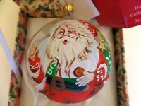 Scottie Scottish Santa Claus Christmas Ornament Vintage 1988 Handpainted