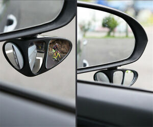 1Pc Car Right Rearview Mirror  Lens Wide Angle Blind Spot Mirror 360° Rotation