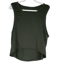 Over The Limit Apparel Womens size M Sleeveless Muscle Tank Top Army Green NWOT