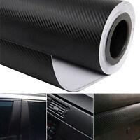 3D Carbon Fiber Car Vinyl Foil Film Wrap Roll Sticker Decal Interior Accessories
