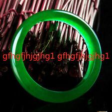 Chinese Beautiful 100% Natural Emerald Green Jadeite Jade Bangle Bracelet 65mm
