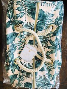Pottery Barn Palms Rope Duffle Bag Emily & Meritt Travel Tote Kids Teen Womens