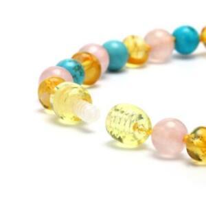 New Design Beaded Necklace Kallaite Amber Baby Women Jewelry Teething Gift Beads