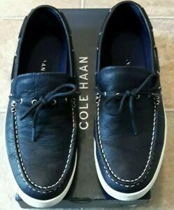 ***DEAL*** Cole Haan Pinch Weekender Deck Camp Moc NAVY+BLUE 11.5