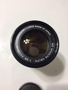 Minolta MD Celtic 135mm 1:3.5 F/3.5 Manual Focus Prime Lens Tested Works