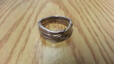 Beautiful Big Ropes Swirls Waves Band Ring 925 Sterling Silver *Size 10*F999