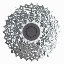 9-speed Cassette for Bicycle.  11,12,14,16,18,21,24,28,32  teeth.  Silver color