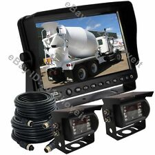 "9"" REAR VIEW REVERSE BACKUP CAMERA KIT SYSTEM FOR TRACTOR, EXCAVATOR, TRUCK, RV"