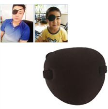 2Pcs Medical Concave Eye Patch Foam Groove Washable Eyeshades Strap Kids/Adult
