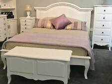 White Painted 5ft King Size Bed / White French Bed / Modern Bed