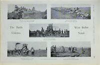 1900 PRINT BATTLE OF COLENSO BULLER IN NATAL AMBULANCE WAGGON HILDYARDS BRIGADE