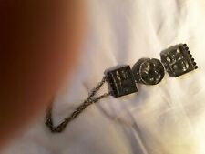 Pentii SARAPANEVA Bronze 70s Pendant Large Necklace FINLAND