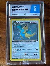 Pokemon 1st Ed Dark Dragonite Holo - ACE 5 EX - COLOUR