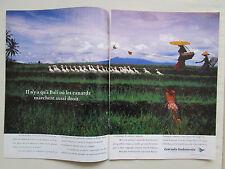 5/1990 PUB GARUDA INDONESIA AIRLINES BALI CANARD DUCK ORIGINAL FRENCH AD