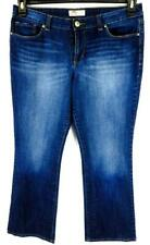 L.e.i denim blue medium washed embroidered pocket lowrise bootcut jeans 15