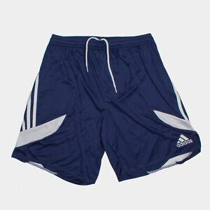adidas Unisex Nova 14 Kids Teamwear Shorts Workout Training Bottom Navy White