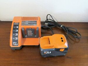 Ridgid Battery Charger 140315001 and Battery 130377001 24 V XLi Fast Charge