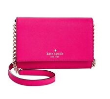 NWT Kate Spade Cedar Street Cami Clutch Bag Leather Pink Confetti PWRU4450 $148