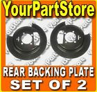 S10 BLAZER PICKUP PU Truck REAR BRAKE BACKING PLATE Dust Shield Plates PAIR