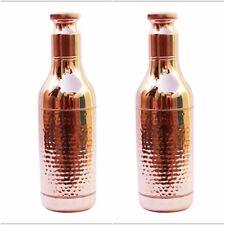 2 Pcs 1500 ML 100% Copper High Neck Drinking Water Bottle Ayurvedic vessels1