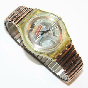 Swatch Uhr Herrenuhr Herren Uhr mit frischer Batterie Skelett