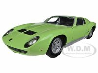 LAMBORGHINI MIURA P 400 S GREEN 1/24 DIECAST MODEL CAR BY MOTORMAX 73368