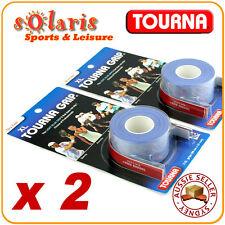 2 x Tourna Grip Original Dry Feel Blue Extra-Long Tennis Racquet Overgrip 3-pack