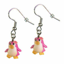 Ohrring Ohrringe mit Anhänger aus Fimo Tiere Pinguin Kinder Kinderohrrine