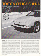 1982 Toyota Celica Supra Coupe Road Test & Technical Data Article