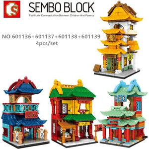 4pcs/set Sembo Blocks Kids Building Toys Puzzle Chinese House 601136-39 (no box