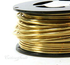 Brass Wire, 12 Gauge, Dead Soft, Round Brass Jewelry Wire, 10 Feet, 014
