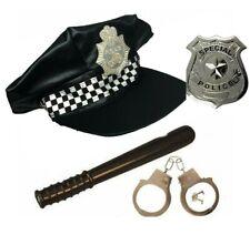 Adult Policeman Police Officer Panda Hat Handcuffs Badge Truncheon Fancy Dress