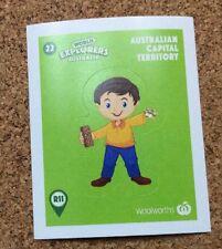 Woolworths World Explorers Sticker #22 ACT Sticker Australian Capital Territory