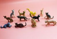 Lot 12pcs plastic Animal Small figure Toy Model Lovely Cat Home Decor A16