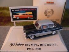 1/87 Brekina Opel Rekord P1 50 Jahre Rekord 1957-1960 silber/schwarz 20018