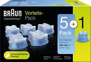 Braun original 5 + 1 Clean&Renew Reinigungskartuschen 6er Sparpack NEU OVP