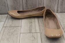 ** Vince Camuto Ellen Patent Leather Ballet Flats, Women's Size 7.5M, Bisque