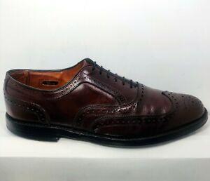 Allen Edmonds Barrington Men's Oxford Oxblood Brogue Wingtip Dress Shoes Sz.12D
