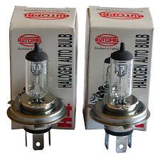 H4 9003 HB2 12V 100/90W WHITE BULB KIT (2 BULBS)