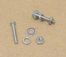 M1.6X12 M1.6  Metric Machine Screw Flat Washer Lock Washer Nut Fixture x50sets