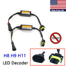 2X H8 H9 H11 LED Headlight Decoder Anti-Flicker Error Canceller Resistor Canbus