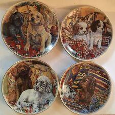 """T. Limoges-Dec. A La Main Porcelain 4 """"Faithful Friends"""""""